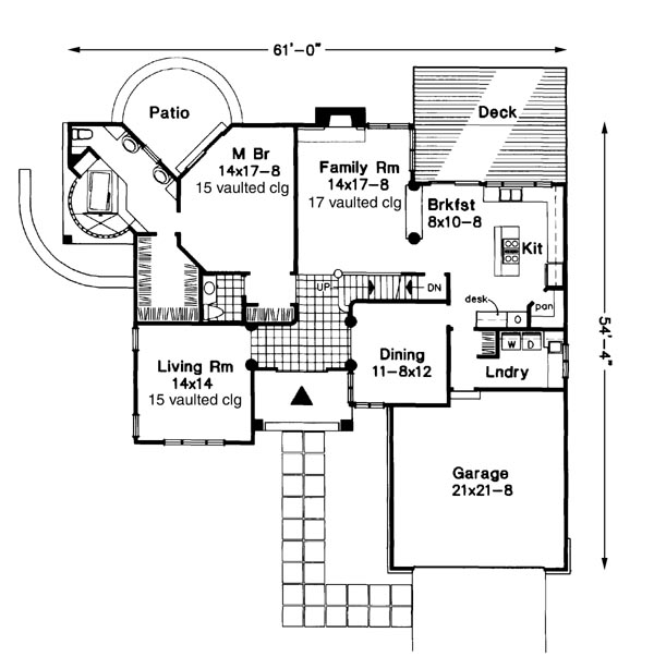 Main Floor Plan image of Featured House Plan: BHG - 6186
