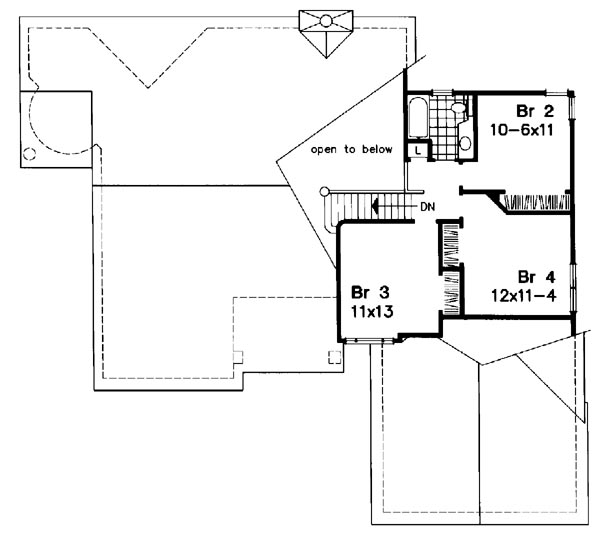 Upper Floor Plan image of Featured House Plan: BHG - 6186