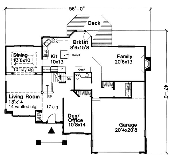 Main Floor Plan image of Featured House Plan: BHG - 6187