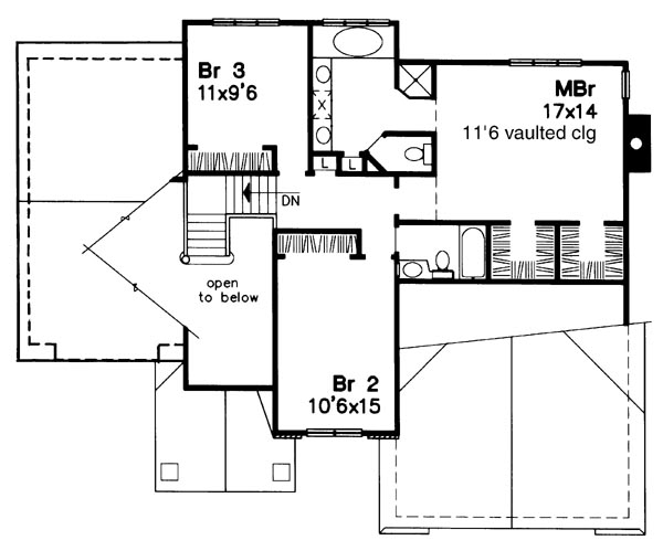 Upper Floor Plan image of Featured House Plan: BHG - 6187
