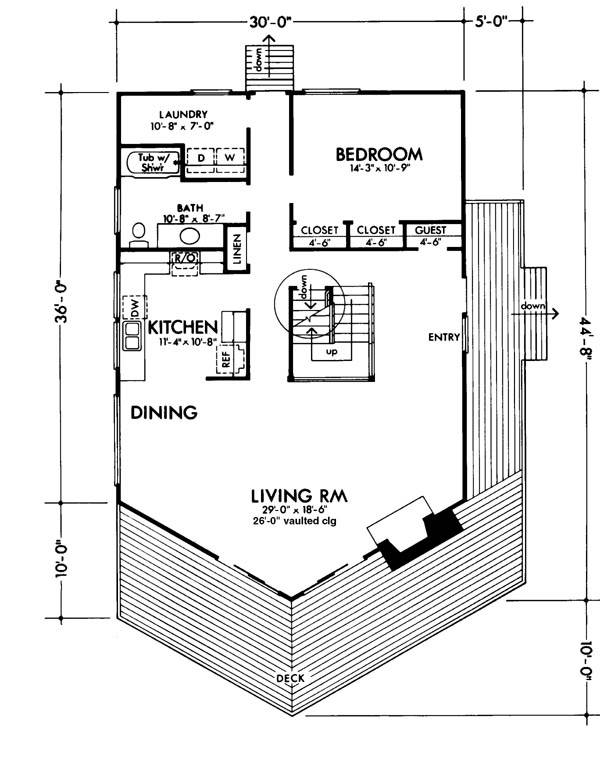 Main Floor Plan image of Featured House Plan: BHG - 6127