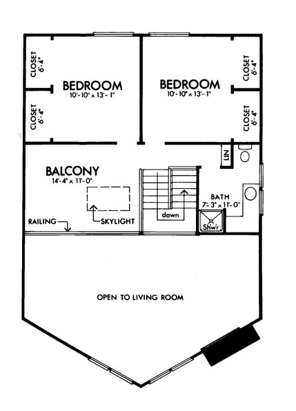 Upper Floor Plan image of Featured House Plan: BHG - 6127