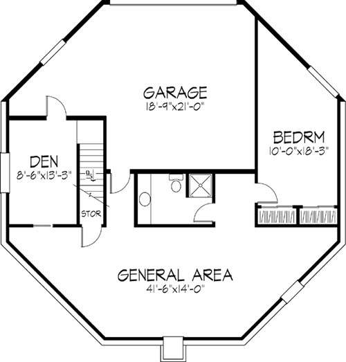 Basement image of Featured House Plan: BHG - 6128