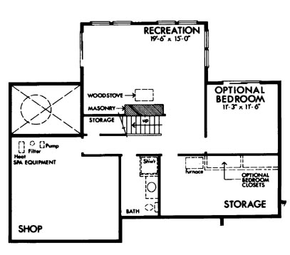 Basement image of Featured House Plan: BHG - 6129