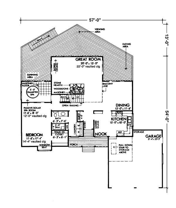 Main Floor Plan image of Featured House Plan: BHG - 6129