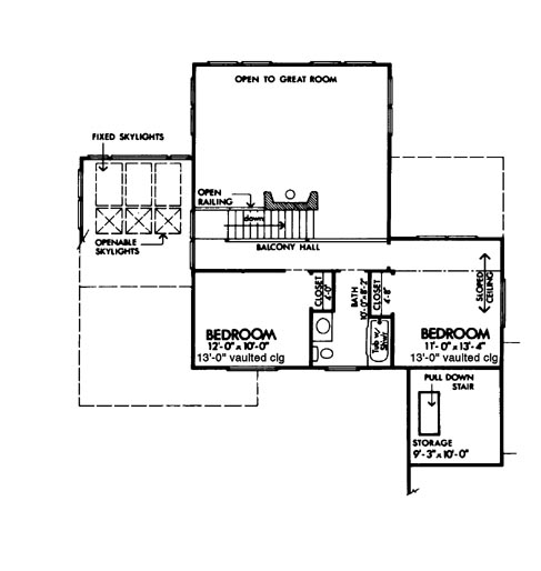 Upper Floor Plan image of Featured House Plan: BHG - 6129