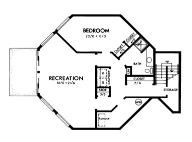 Basement image of Featured House Plan: BHG - 6130