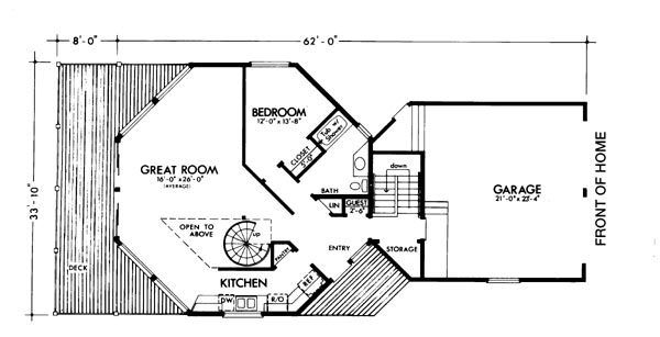 Main Floor Plan image of Featured House Plan: BHG - 6130