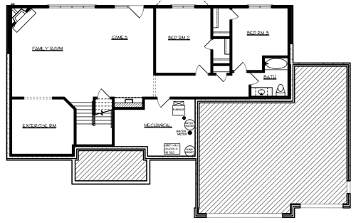 Lower Floor Plan image of Featured House Plan: BHG - 1035