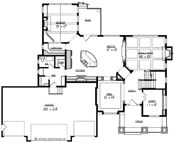 Main Floor Plan image of Featured House Plan: BHG - 1577