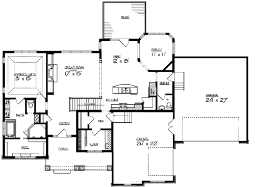 Main Floor Plan image of Featured House Plan: BHG - 2257