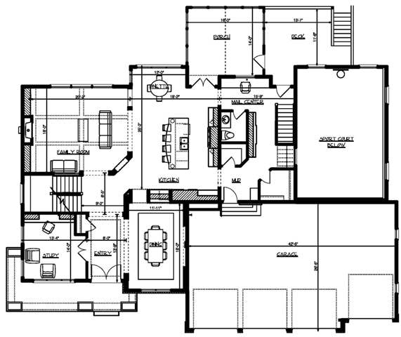 Main Floor Plan image of Featured House Plan: BHG - 4953