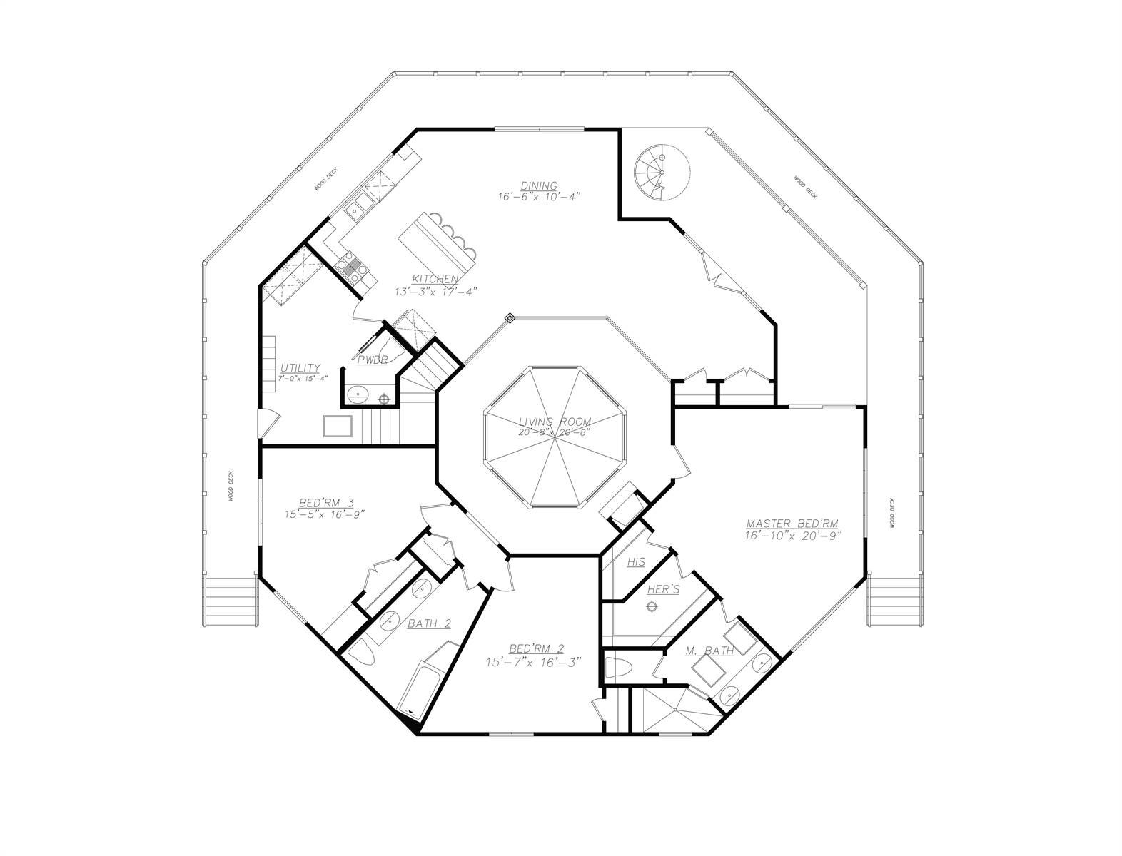 1st Floor image of Featured House Plan: BHG - 7386