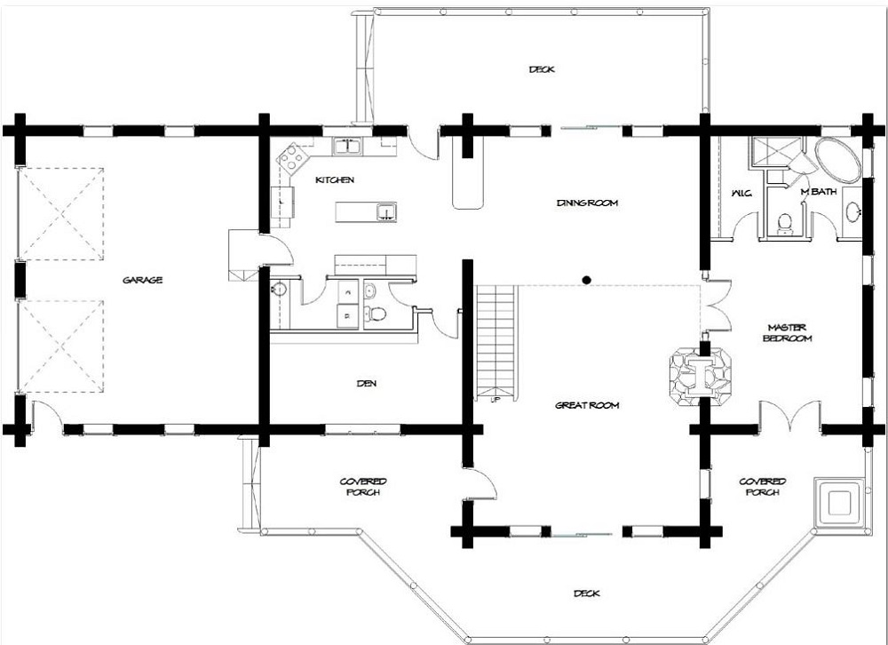 First Level Floor Plan image of Featured House Plan: BHG - 9447