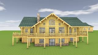 image of Lakeview Log Home House Plan