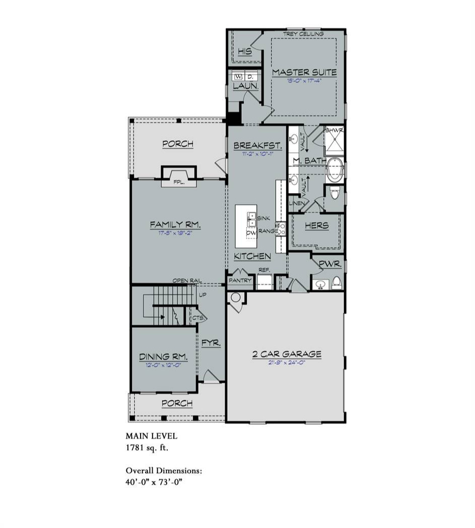 1st Floor image of Featured House Plan: BHG - 7189