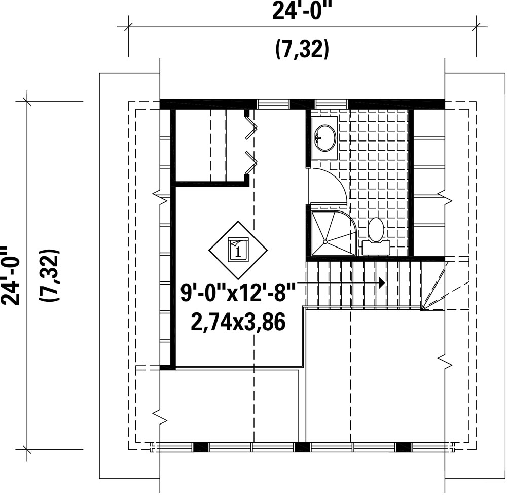 2nd Floor Plan image of Featured House Plan: BHG - 9807