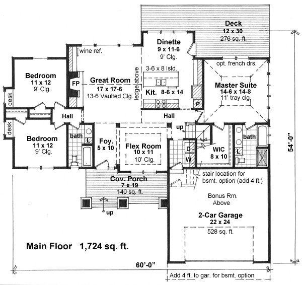 1st Floor Plan image of Featured House Plan: BHG - 1938