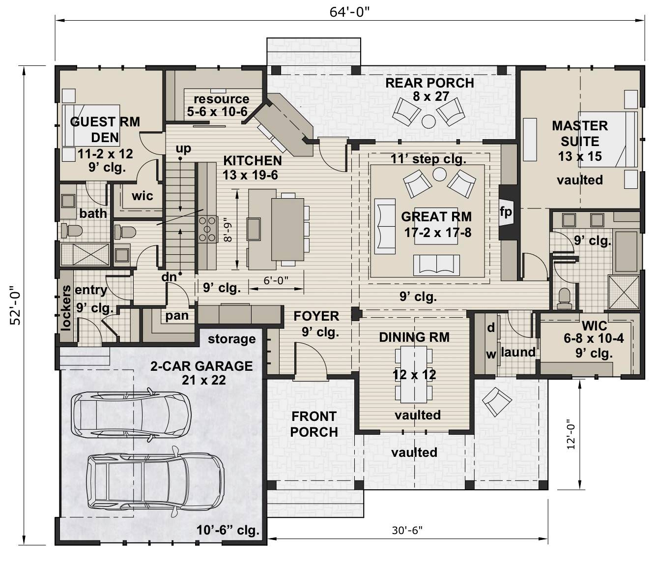 1st Floor Plan image of Featured House Plan: BHG - 7200