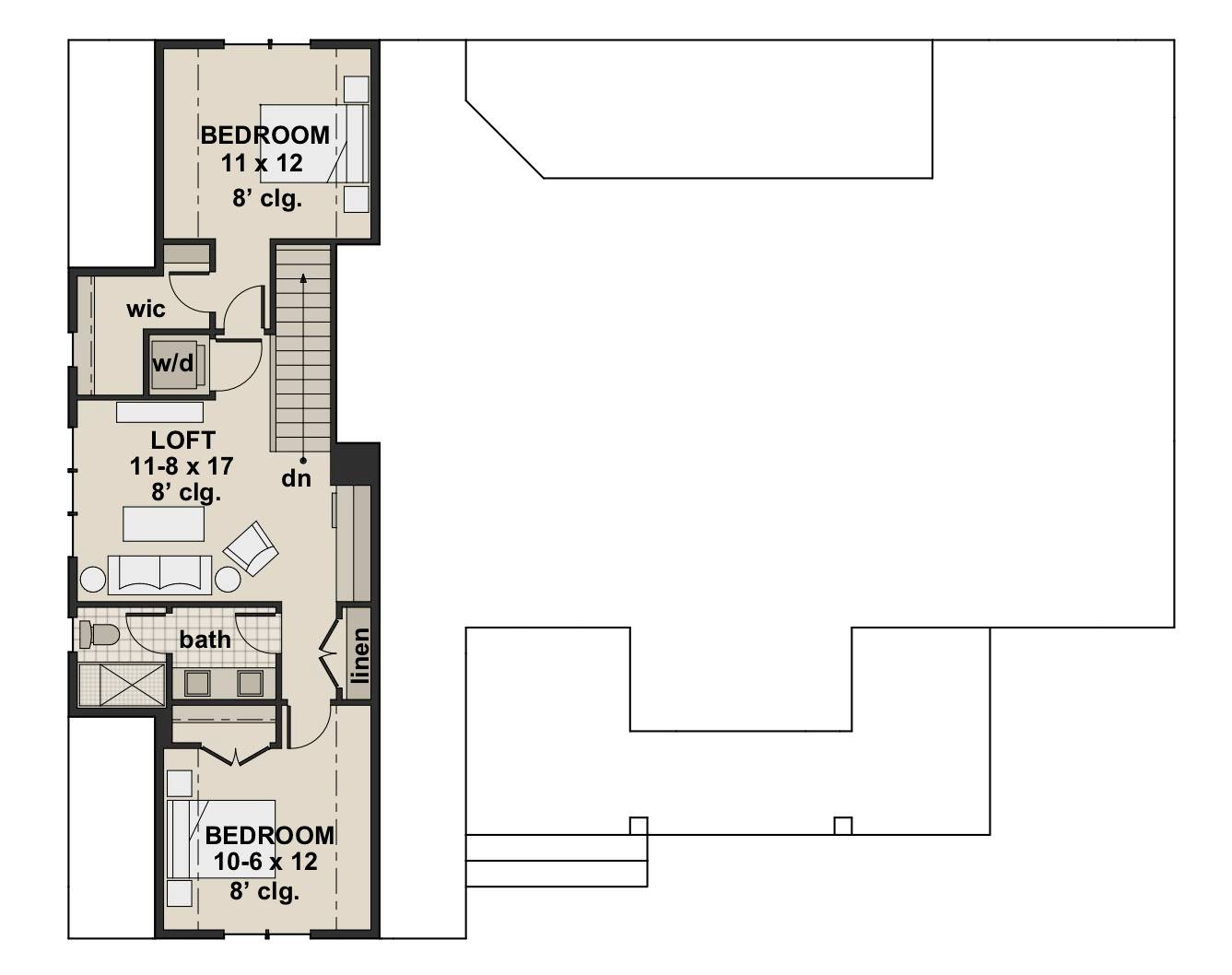 2nd Floor Plan image of Featured House Plan: BHG - 7200