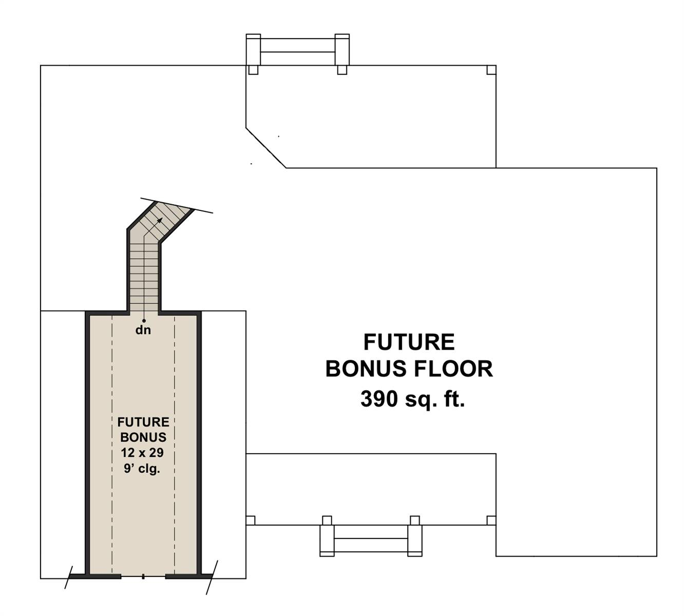 Bonus Floor Plan image of Featured House Plan: BHG - 7205