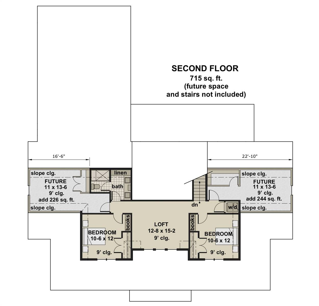 2nd Floor Plan image of Featured House Plan: BHG - 7364
