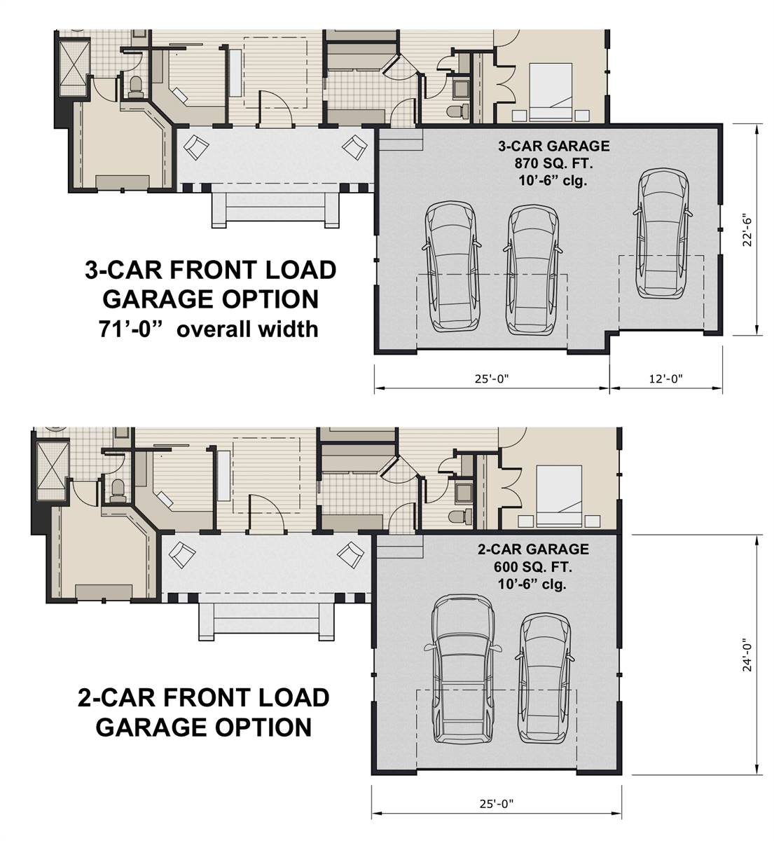 Front Load Garage Option image of Featured House Plan: BHG - 7438