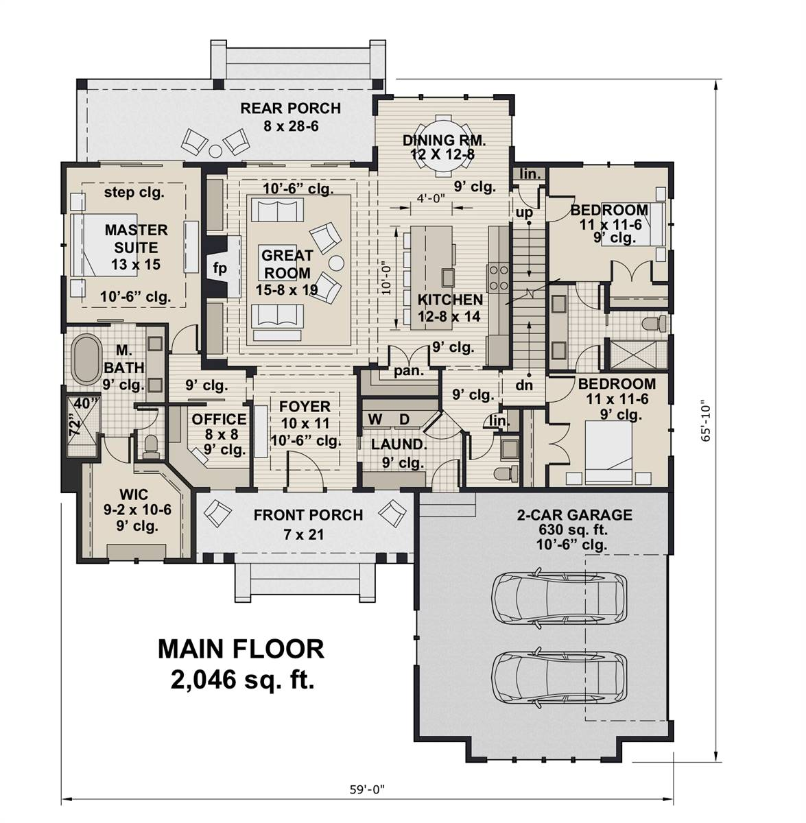 1st Floor Plan image of Featured House Plan: BHG - 7438