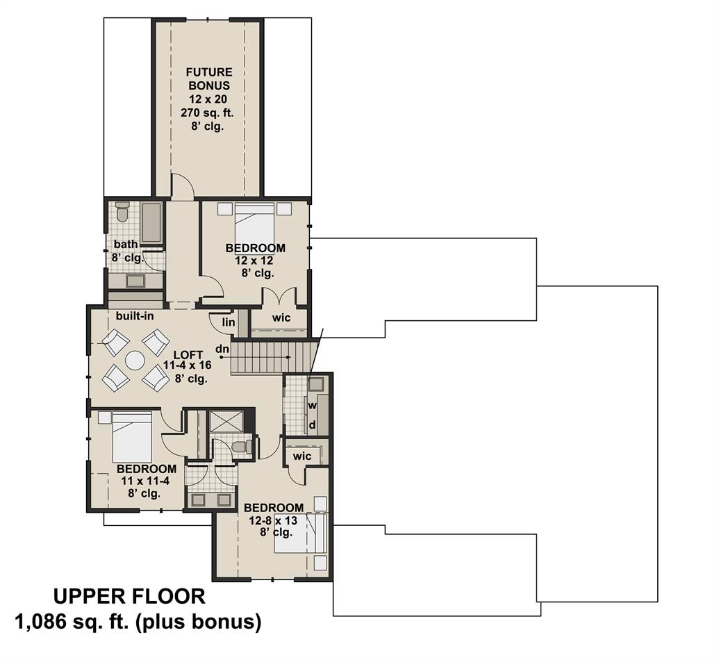 2nd Floor Plan image of Featured House Plan: BHG - 3404