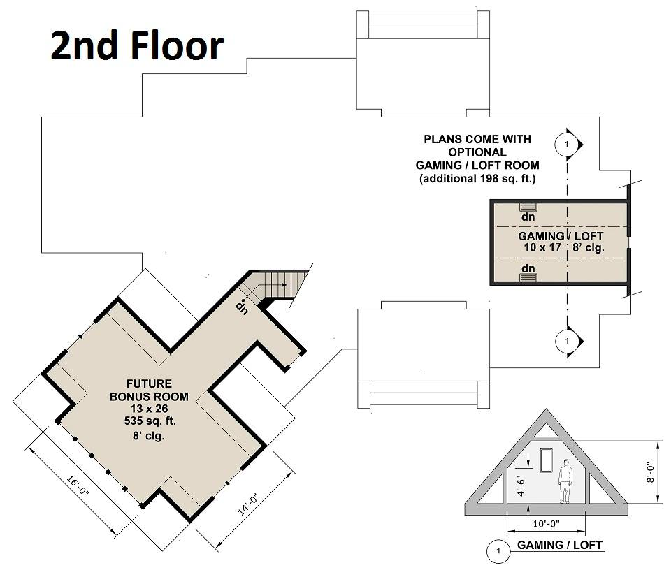 2nd Floor Plan image of Featured House Plan: BHG - 4303