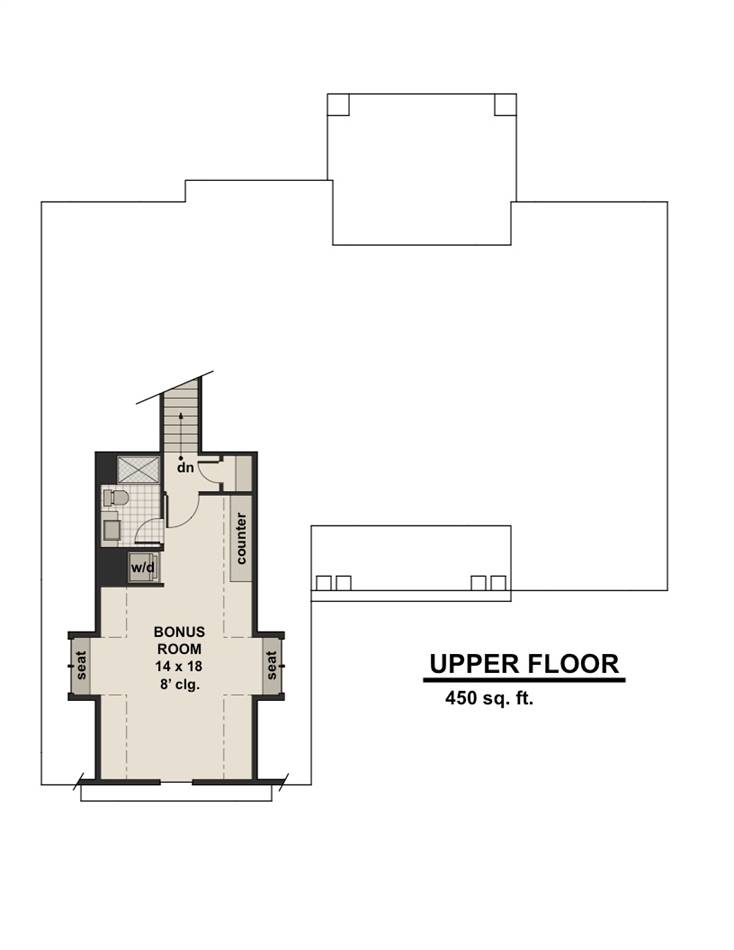 2nd Floor Plan image of Featured House Plan: BHG - 2003