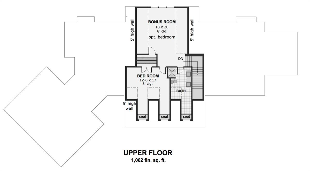 2nd Floor Plan image of Featured House Plan: BHG - 1991