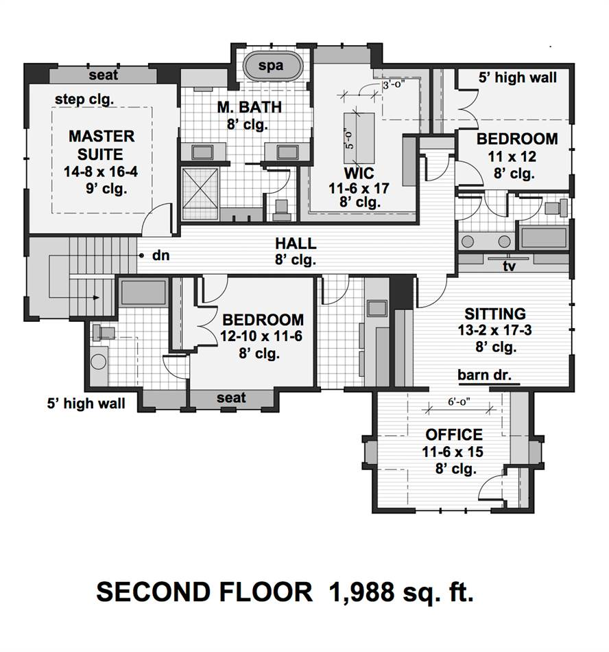 2nd Floor Plan image of Featured House Plan: BHG - 2001