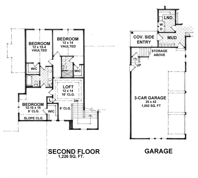 2nd Floor Plan image of Featured House Plan: BHG - 1936