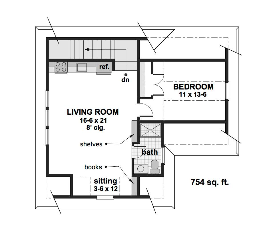2nd Floor Plan image of Featured House Plan: BHG - 1993