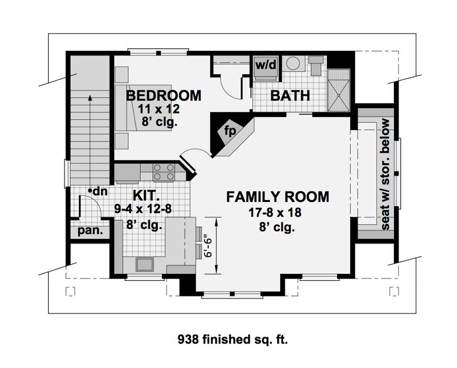 2nd Floor Plan image of Featured House Plan: BHG - 1994