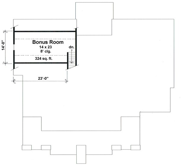 Bonus Floor Plan image of Featured House Plan: BHG - 9660