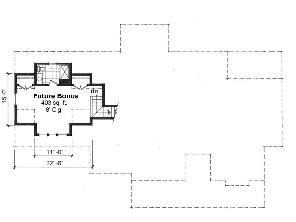 Bonus Floor Plan image of Featured House Plan: BHG - 9664