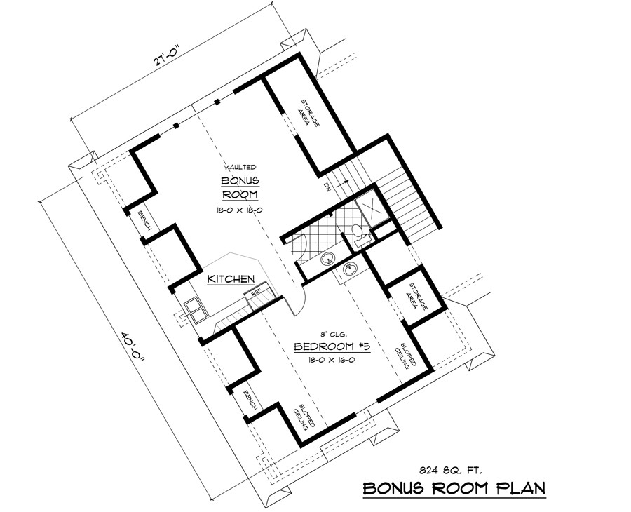 Bonus Floor Plan image of Featured House Plan: BHG - 9668