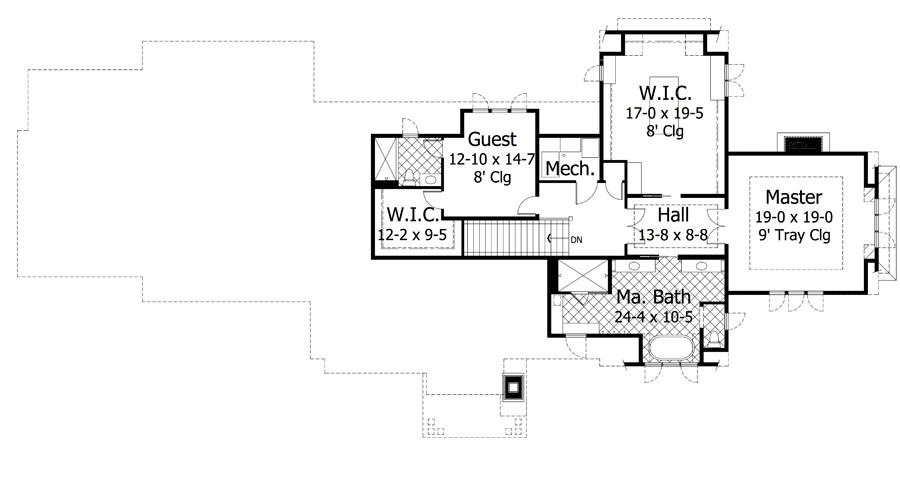 2nd Floor Plan image of Featured House Plan: BHG - 9672