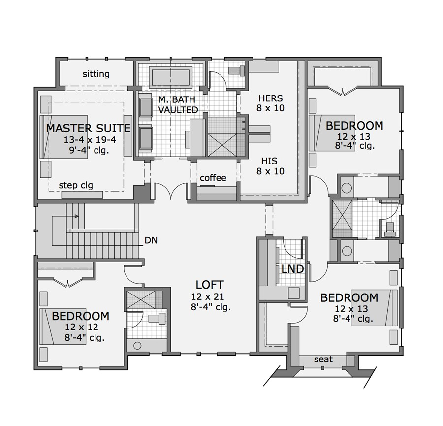 2nd Floor Plan image of Featured House Plan: BHG - 9680