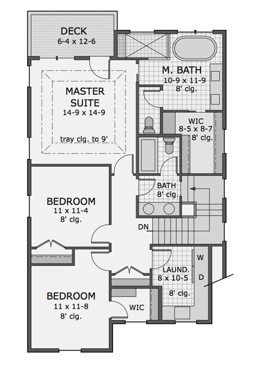 2nd Floor Plan image of Featured House Plan: BHG - 9733