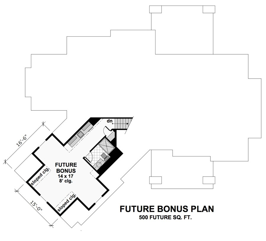 Bonus Floor Plan image of Featured House Plan: BHG - 9720