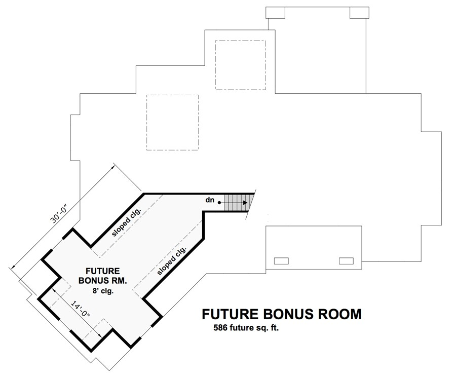 Bonus Floor Plan image of Featured House Plan: BHG - 9715