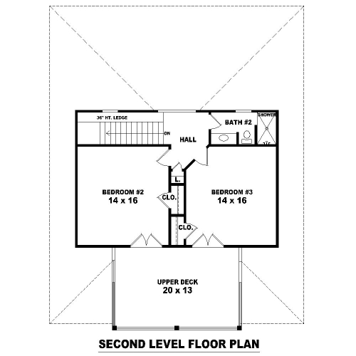 2nd Level image of Featured House Plan: BHG - 8487