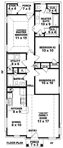 1st Level image of Featured House Plan: BHG - 8103