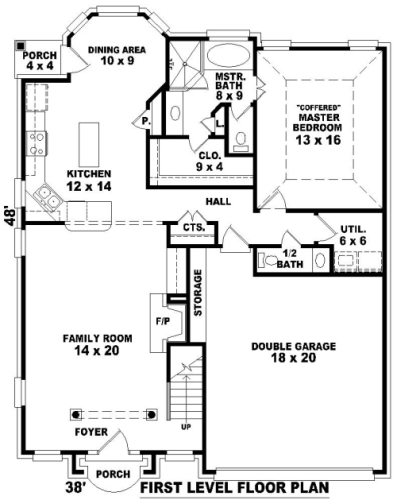 1st Level image of Featured House Plan: BHG - 8110