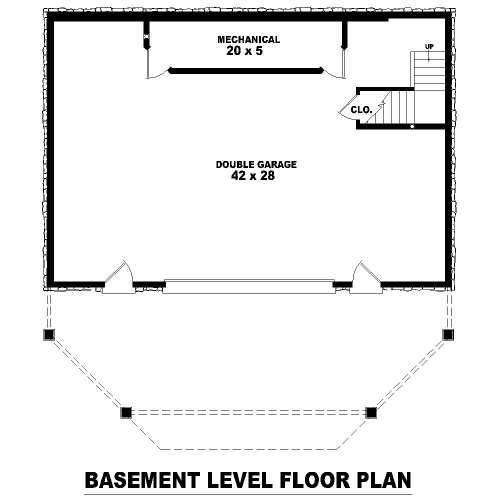 Basement Level image of Featured House Plan: BHG - 8115