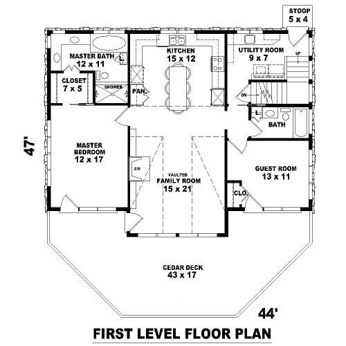 1st Level image of Featured House Plan: BHG - 8115