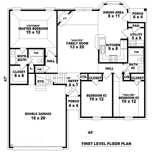 1st Level image of Featured House Plan: BHG - 8118